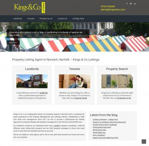 Kings & Co Lettings Norwich Website